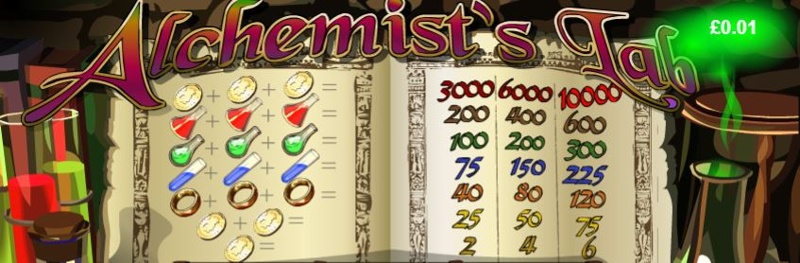 Alchemists Lab Paytable