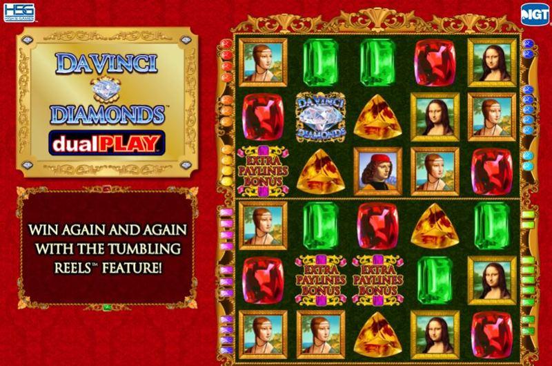 Da Vinci Diamonds Dual Play Screenshot