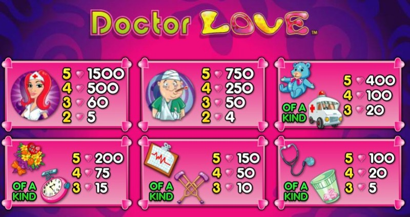 Doctor Love Paytable