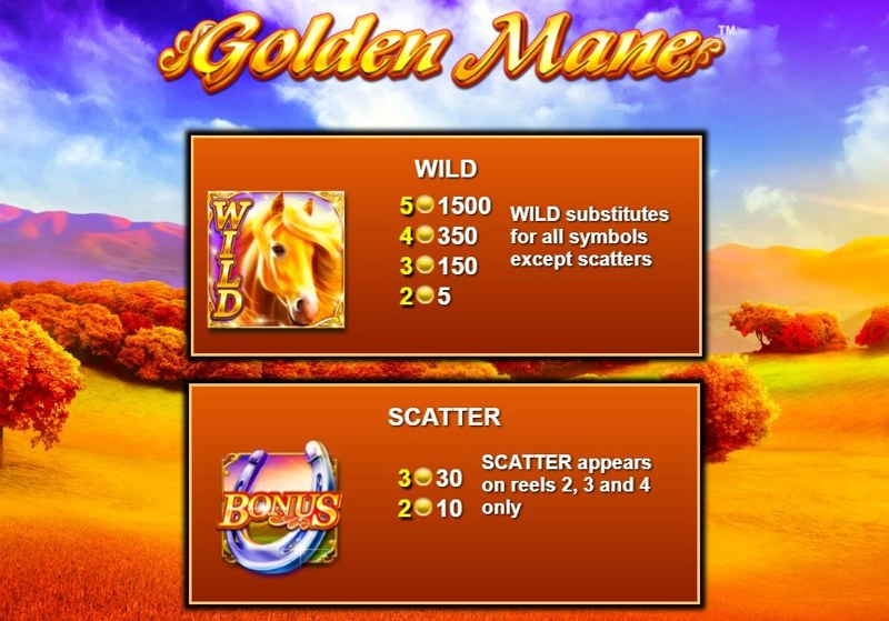 Golden Mane Paytable