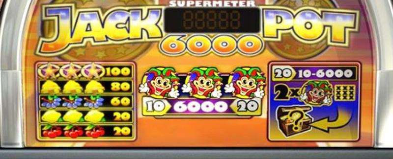 Jackpot 6000 Paytable