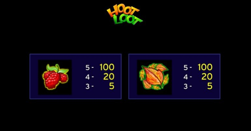 Super Hoot Loot Paytable