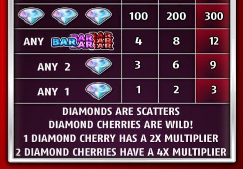 Diamond Cherries Paytable