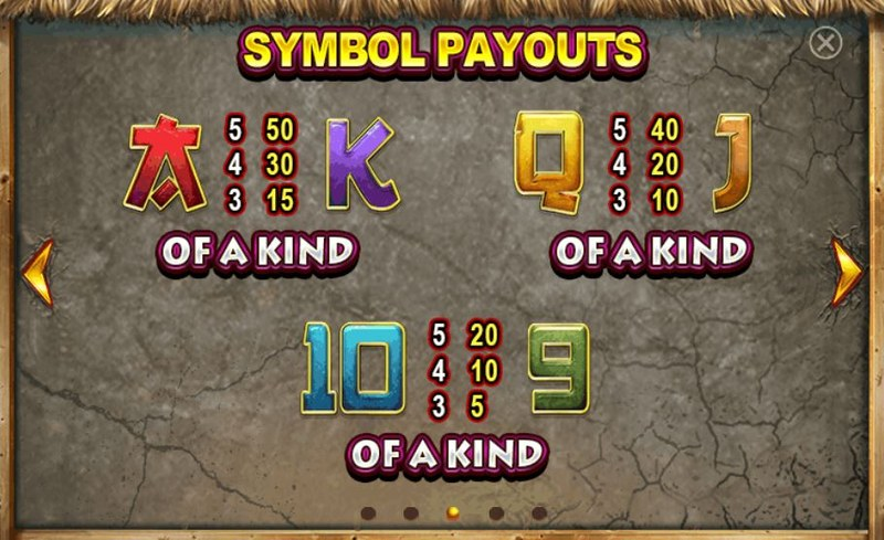 Fire Dragon Paytable