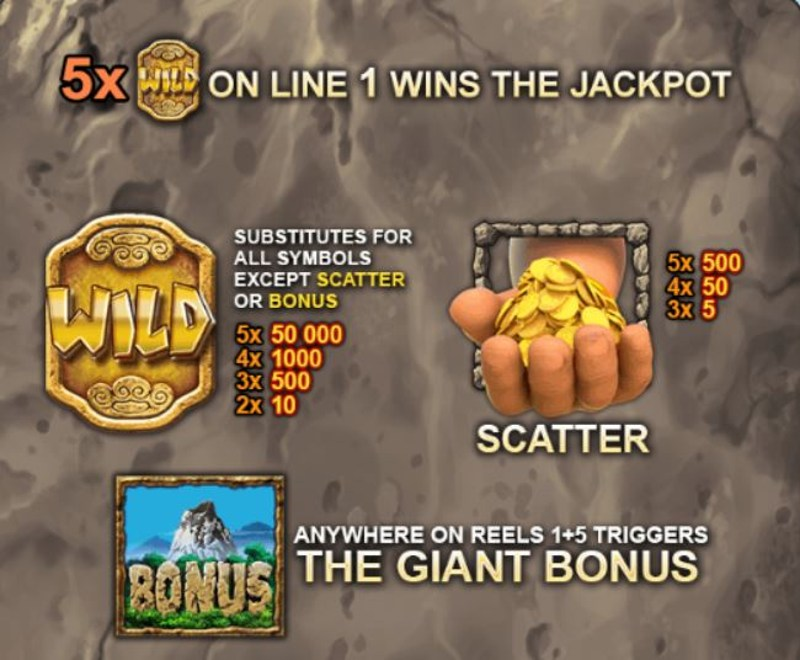 Jackpot Giant Paytable