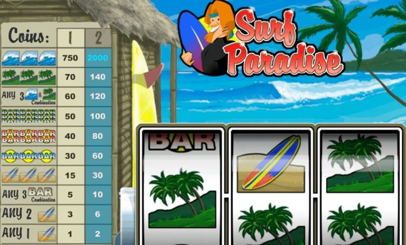 Surf Paradise Paytable