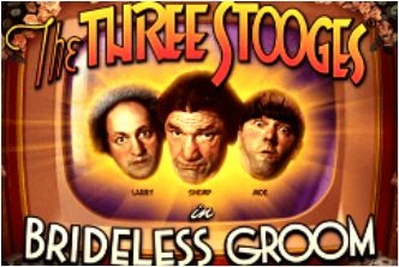 The Three Stooges Brideless Groom Logo